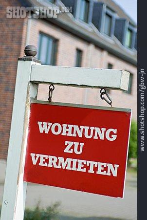 Real Estate Market, Rent, Real Estate Sign