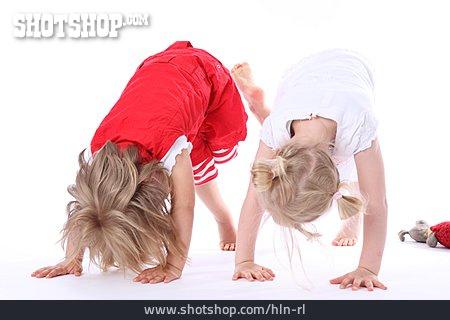 Child, Girl, Gymnastics