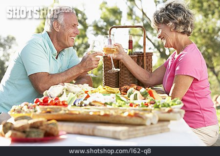 Senior, Couple, Couple, Toast