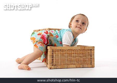 Child, Girl, Basket