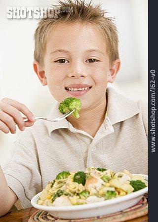 Boy, Broccoli, Pasta