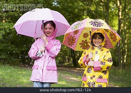 Girl, Fun & Happiness, Umbrella, Weatherproof