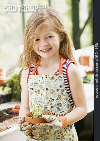 Girl, Gardening, Plant Living Organism