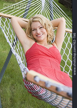 Young Woman, Woman, Relaxation & Recreation, Summer, Hammock