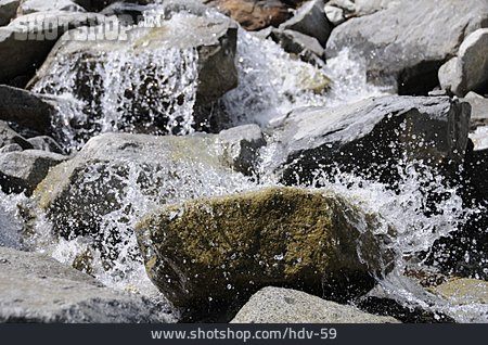 Water, Injecting, Mountain Stream