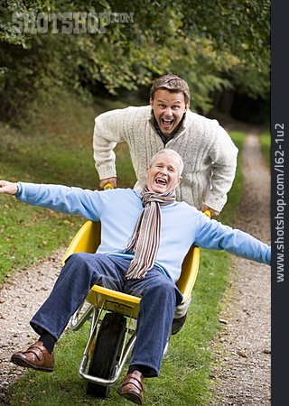 Senior, Father, Fun & Happiness, Son