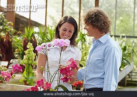 Loving, Love Couple, Orchid, Greenhouse