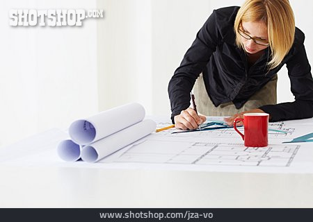 Job & Profession, Planning, Blueprint, Architect
