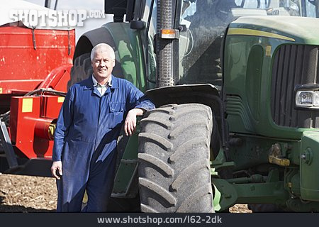 Agriculture, Tractor, Farmer