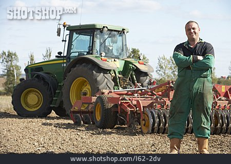 Agriculture, Tractor, Harrow