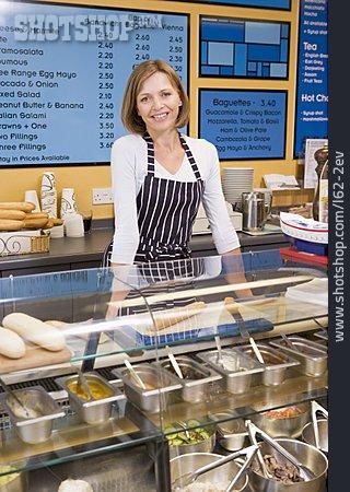 Woman, Gastronomy, Snack, Sales Executive