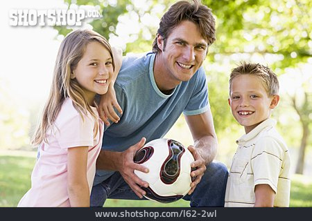 Father, Soccer, Daughter, Son