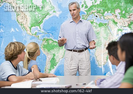 School, Class, Teacher, Geography
