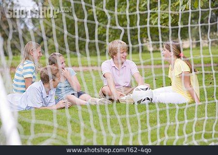 Children Group, Resting, Fun & Games, Net