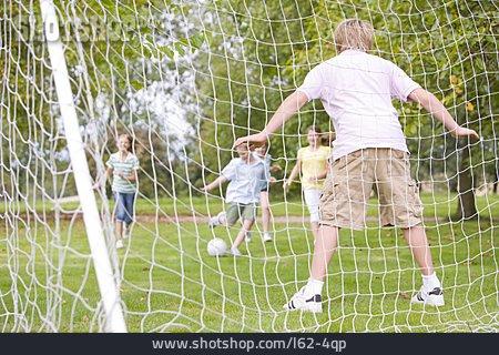 Children Group, Fun & Happiness, Soccer, Goalie