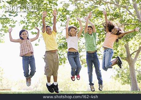 Friendship, Vitality, Children, Jumping