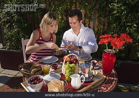 Couple, Breakfast, Breakfast Table