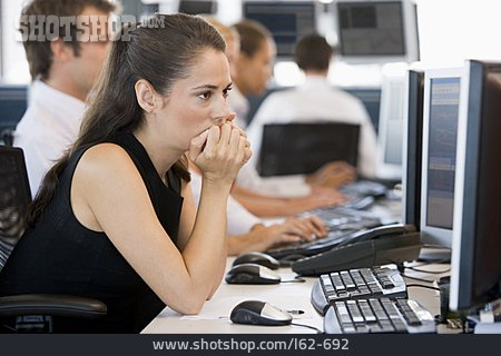 Office & Workplace, Pensive, Office Assistant, Open Plan Office