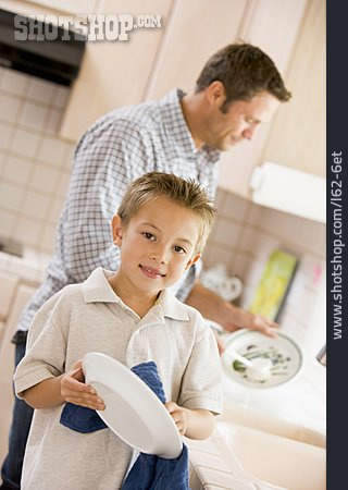 Father, Domestic Life, Toweling, Son