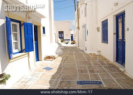 Greece, Alley, Mediterran