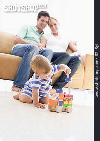 Playing, Wooden Toys, Family Life