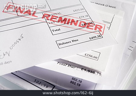 Accounting, Bill, Advise, Overdue, Payment Reminder