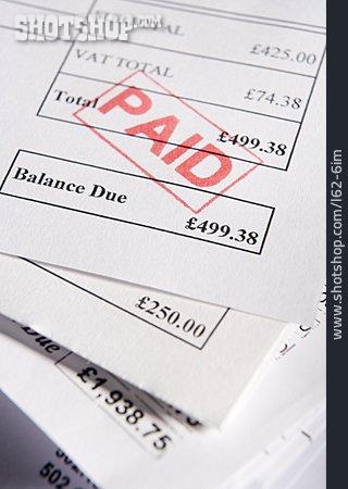 Accounting, Bill, Paid