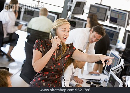 On The Phone, Office Assistant, Stock Trader