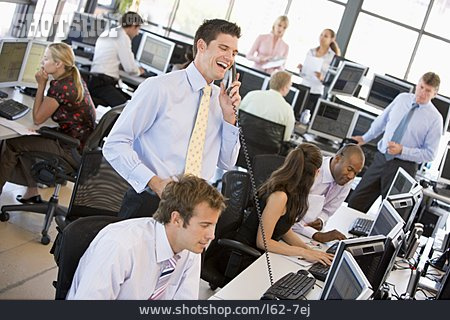Office & Workplace, Office Assistant, Open Plan Office, Stock Trader