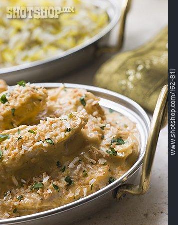 Chicken, Curry Dish, Pasanda