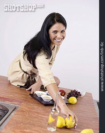 Young Woman, Cooking, Preparation