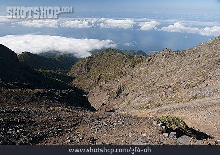 Volcanic Landscape, Caldera, Mirador De Los Andenes