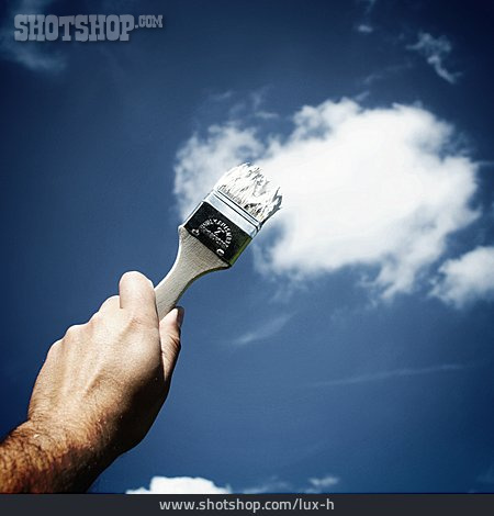 Cloudscape, Paintbrush, Home Decorator, Creative
