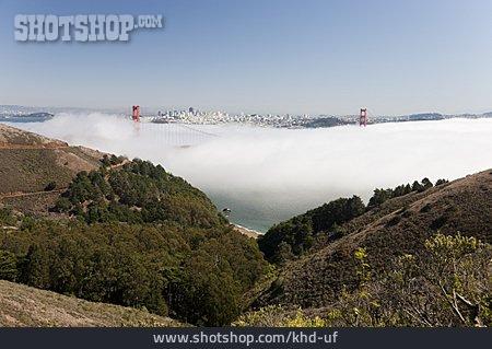 San Francisco, Haze, Golden Gate Bridge