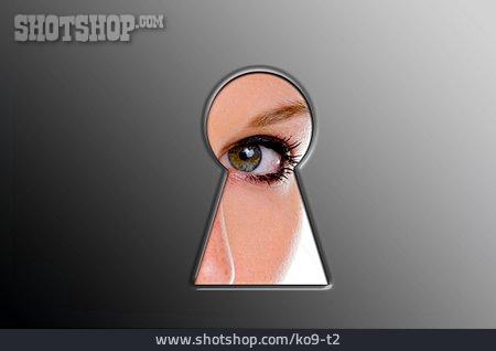 Curious, Spying, Secret
