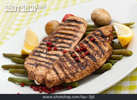 Grooved, Meat Dish, Turkey Breast