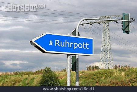 Ruhrpott, Road Sign, Colloquial