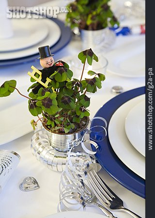 Table Decoration, New Years Eve, Festive, Lucky Charms