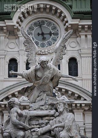 Trieste, La Fontana Dei Quattro Continenti