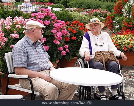 Senior, Care & Charity, Resting, Wheelchair