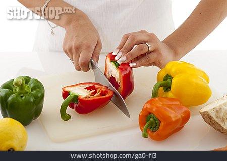 Preparation, Bell Pepper, Cutting