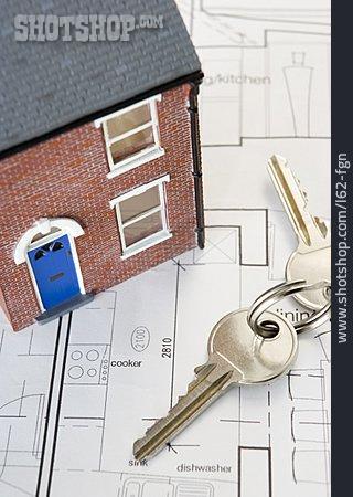 Blueprint, Real Estate, House Key