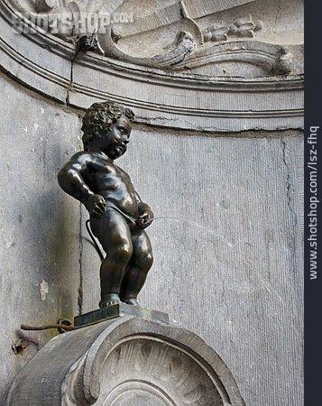 Statue, Fountain Figurine, Manneken Pis