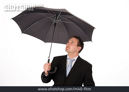 Businessman, Weather, Umbrella