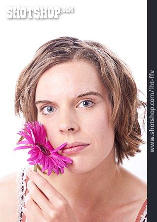Beauty & Cosmetics, Woman, Gerbera Blossom