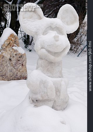 Snowman, Snow Mouse, Snow Figure