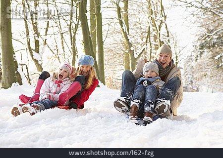 Fun & Happiness, Sledding, Family