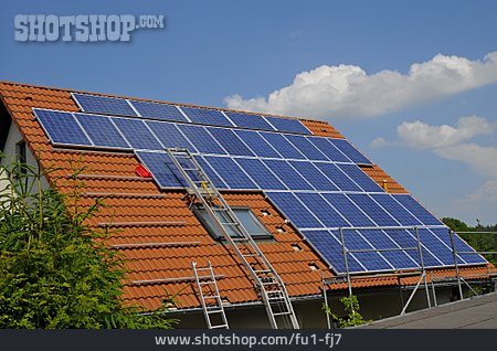 Roof, Montage, Photovoltaic System