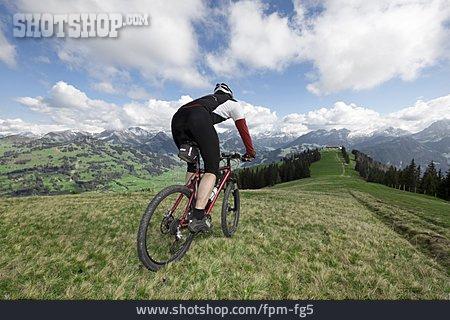 Cyclists, Mountain Bike, Downhill