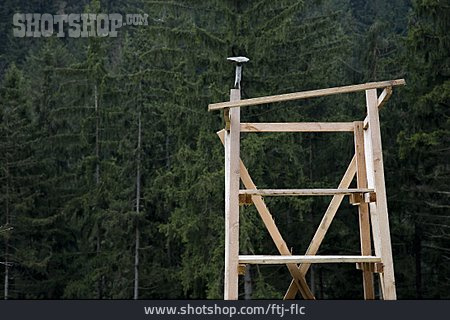 Scaffold, Frame, Wooden Construction